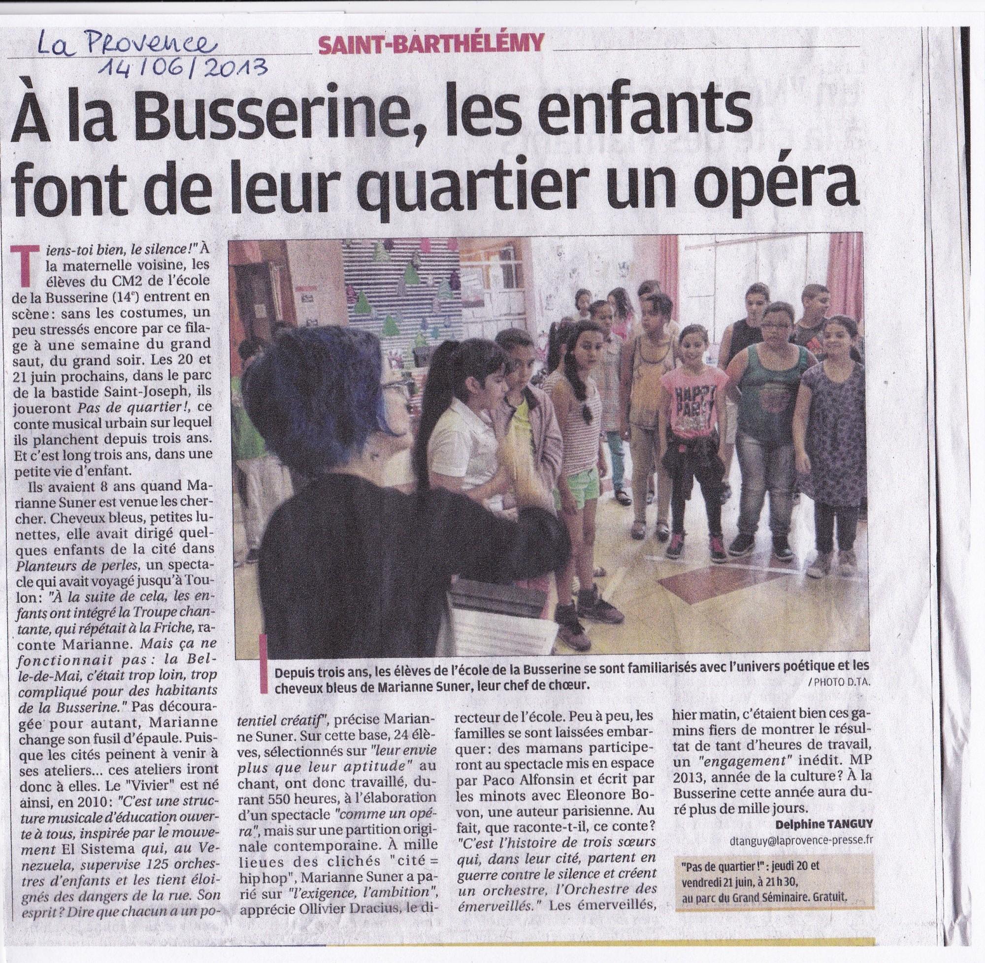 La Provence 14-06-2013